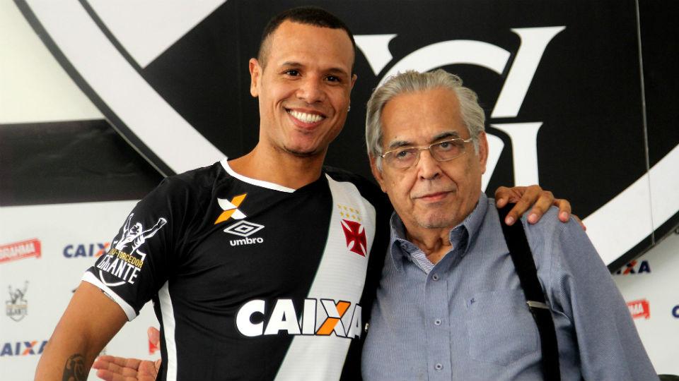 Luis Fabiano e Eurico Miranda no Vasco