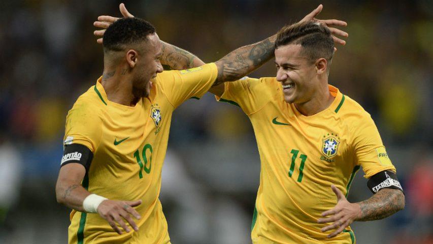 Neymar Philippe Coutinho Seleção Brasileira Brasil Argentina Mineirão