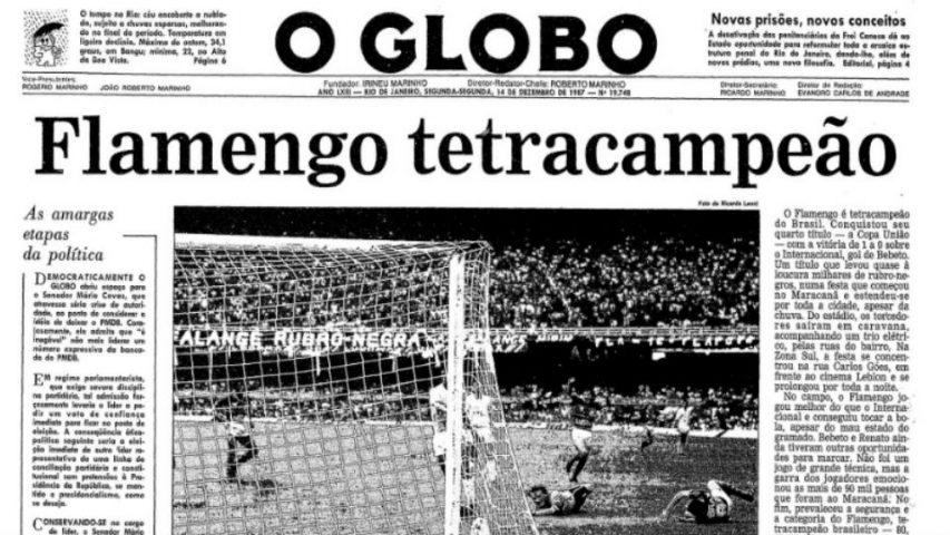 Flamengo campeão 1987 O Globo