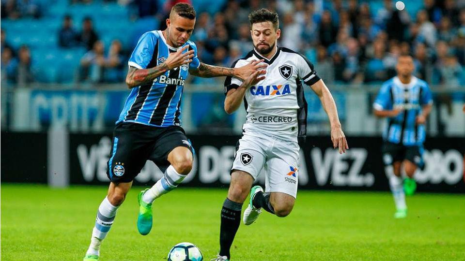 Luan Grêmio Botafogo João Paulo 2017