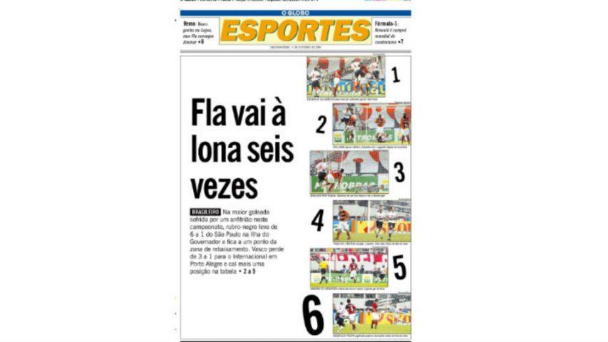Flamengo São Paulo 2005 O Globo