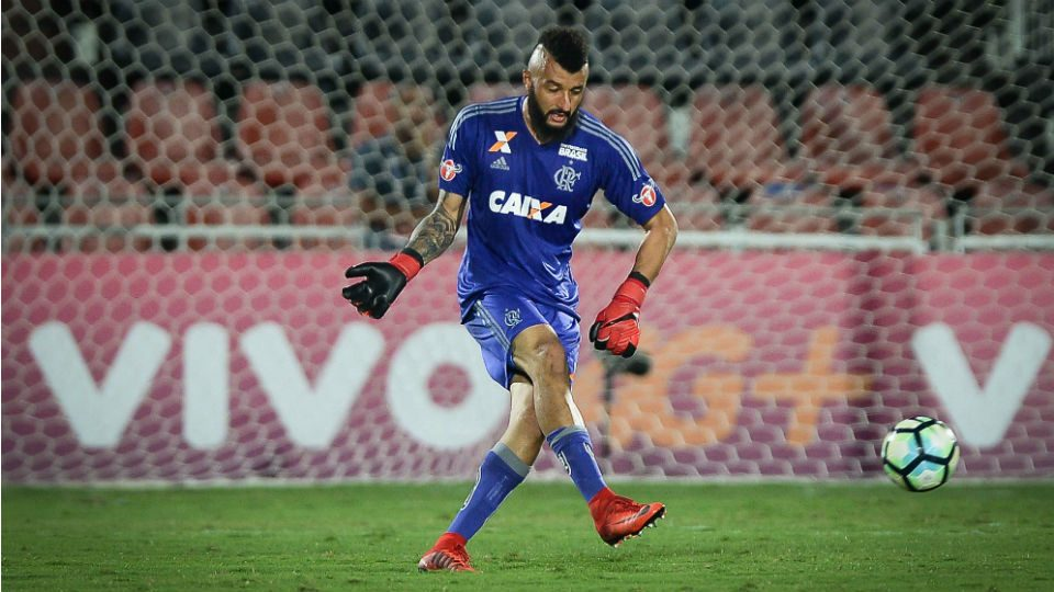 Alex Muralha Flamengo 2017 Santos Ilha do Urubu