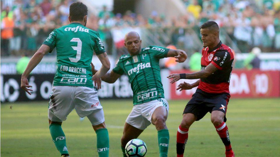 Felipe Melo Everton Flamengo Palmeiras 2017