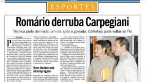 Carpegiani demissão Globo 2000 Flamengo