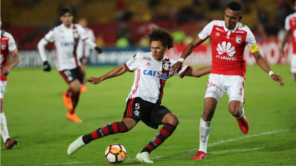 Willian Arão Santa Fé Flamengo 2018