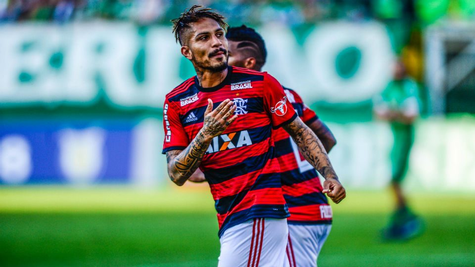 Guerrero gol Chapecoense Flamengo 2018