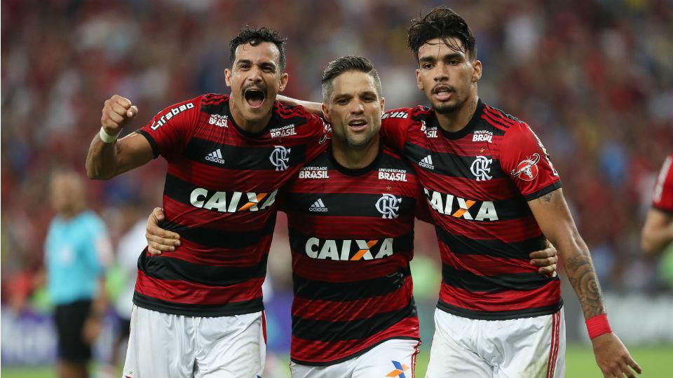 Henrique Dourado Diego Lucas Paquetá Flamengo 2018