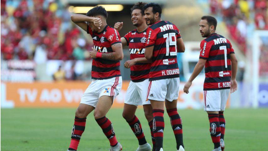 Lucas Paquetá Willian Arão Flamengo 2018 Atlético-MG