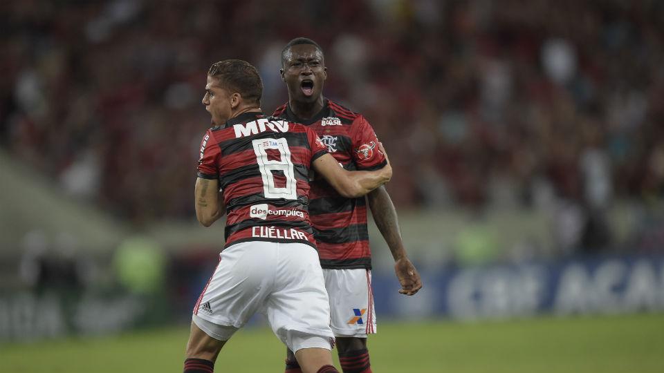 Marlos Moreno gol Flamengo Cuellar