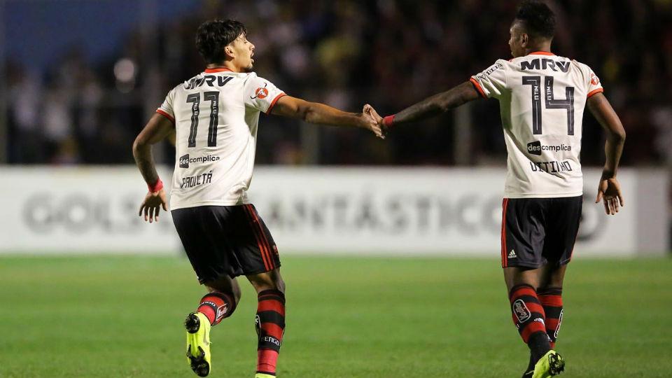 Paquetá Vitinho Flamengo Paraná Brasileiro 2018