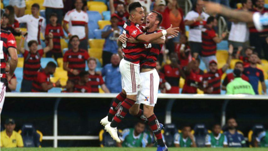 Uribe Flamengo gol Rever Grêmio 2018 Maracanã