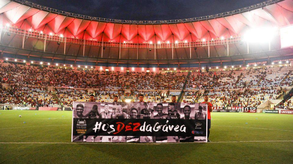 Flamengo homenagem Garotos do Ninho Maracanã