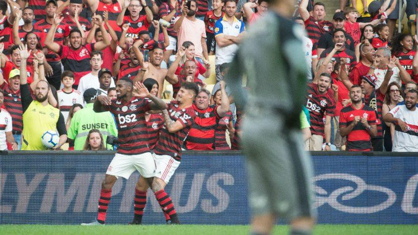 Gerson gol primeiro Flamengo Botafogo 2019