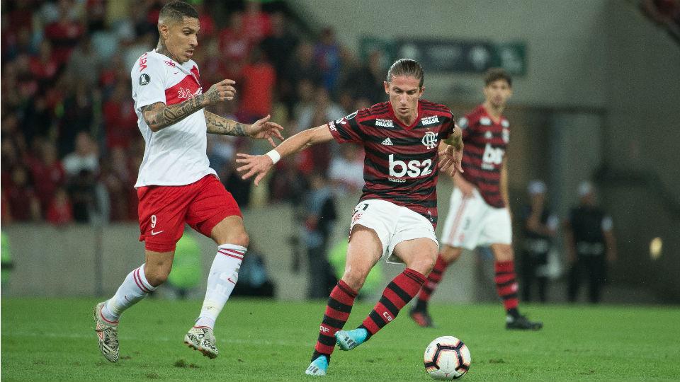 Filipe Luís Guerrero Flamengo Internacional Libertadores 2019