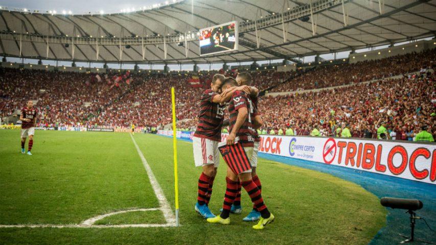 Flamengo comemoração Palmeiras