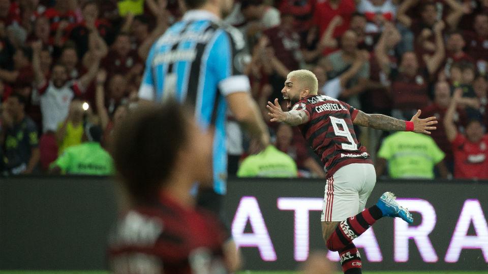 Gabigol Flamengo gol Grêmio Libertadores 2019 Maracanã