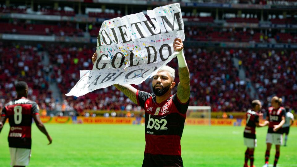 Gabigol plaquinha Supercopa do Brasil Flamengo