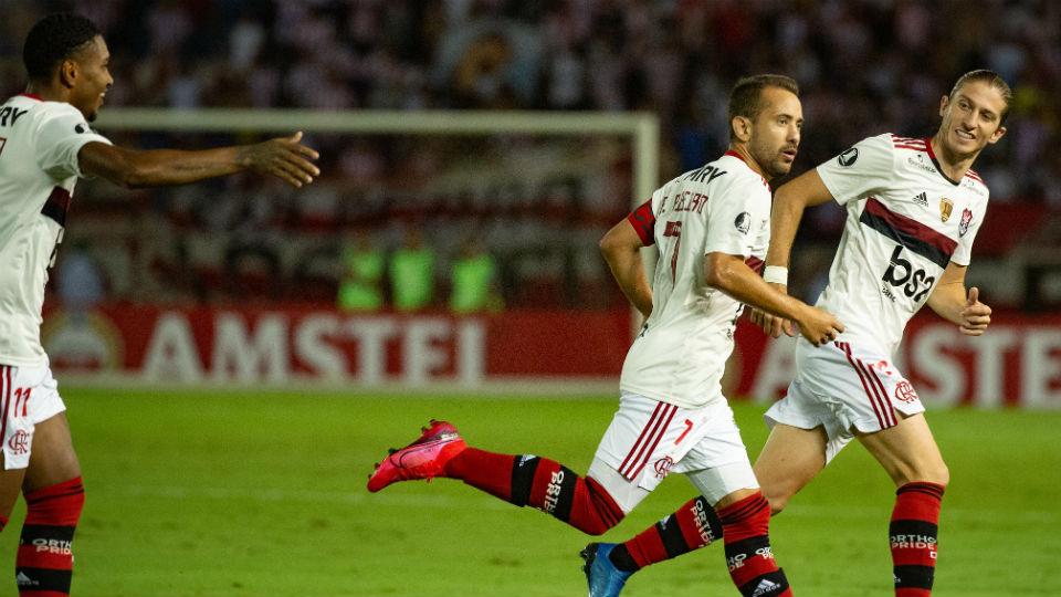 Everton Ribeiro gols Junior Barranquilla Libertadores 2020
