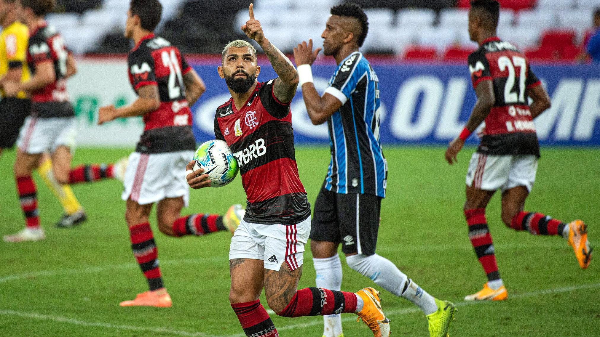 Gabigol gol Grêmio Brasileiro 2020 Maracanã
