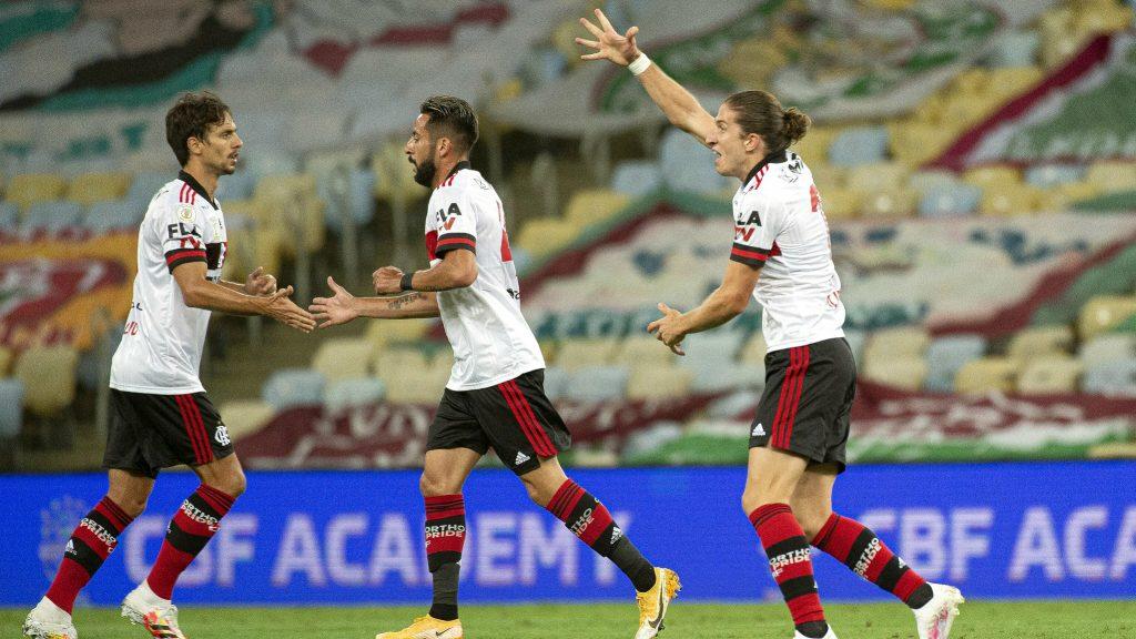 Filipe Luis Flamengo gol Fla-Flu