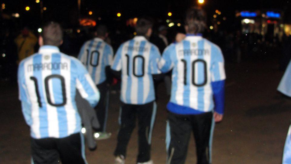 camisas Maradona Copa 2010