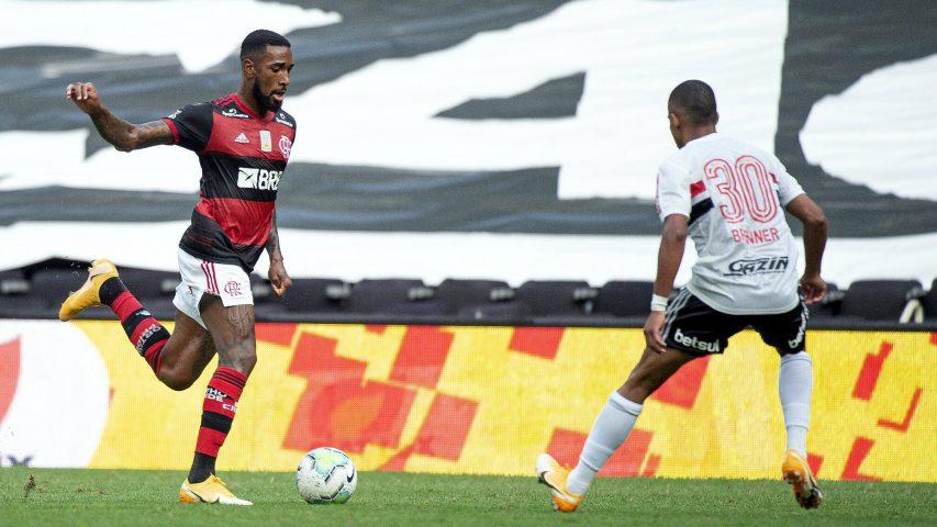Gerson Flamengo São Paulo Maracanã Brasileiro 2020