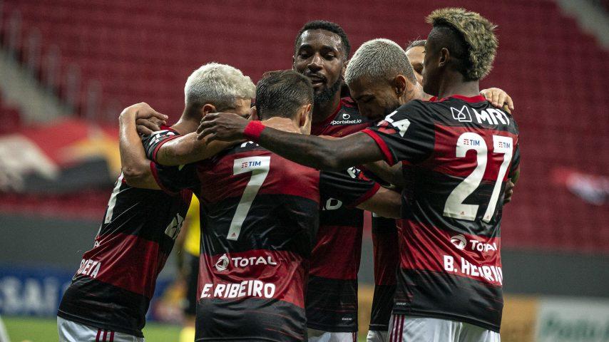 Flamengo Palmerias gol comemoração 2021